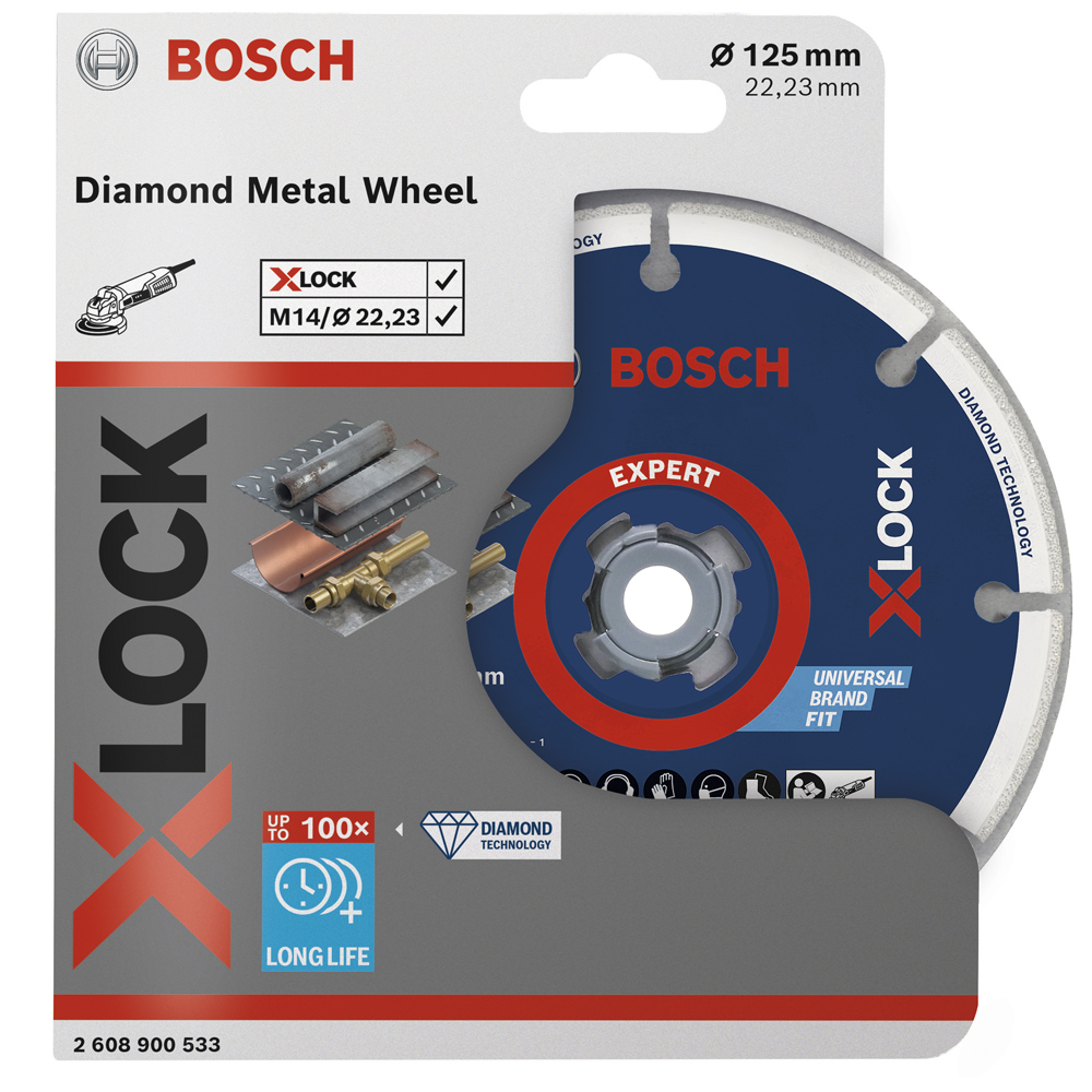 Алмазный круг X-LOCK Expert Diamond Metal Wheel 125х22,23 мм Professional BOSCH (2608900533)